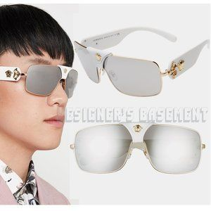 VERSACE white LOGOMANIA Shield VE2207Q sunglasses